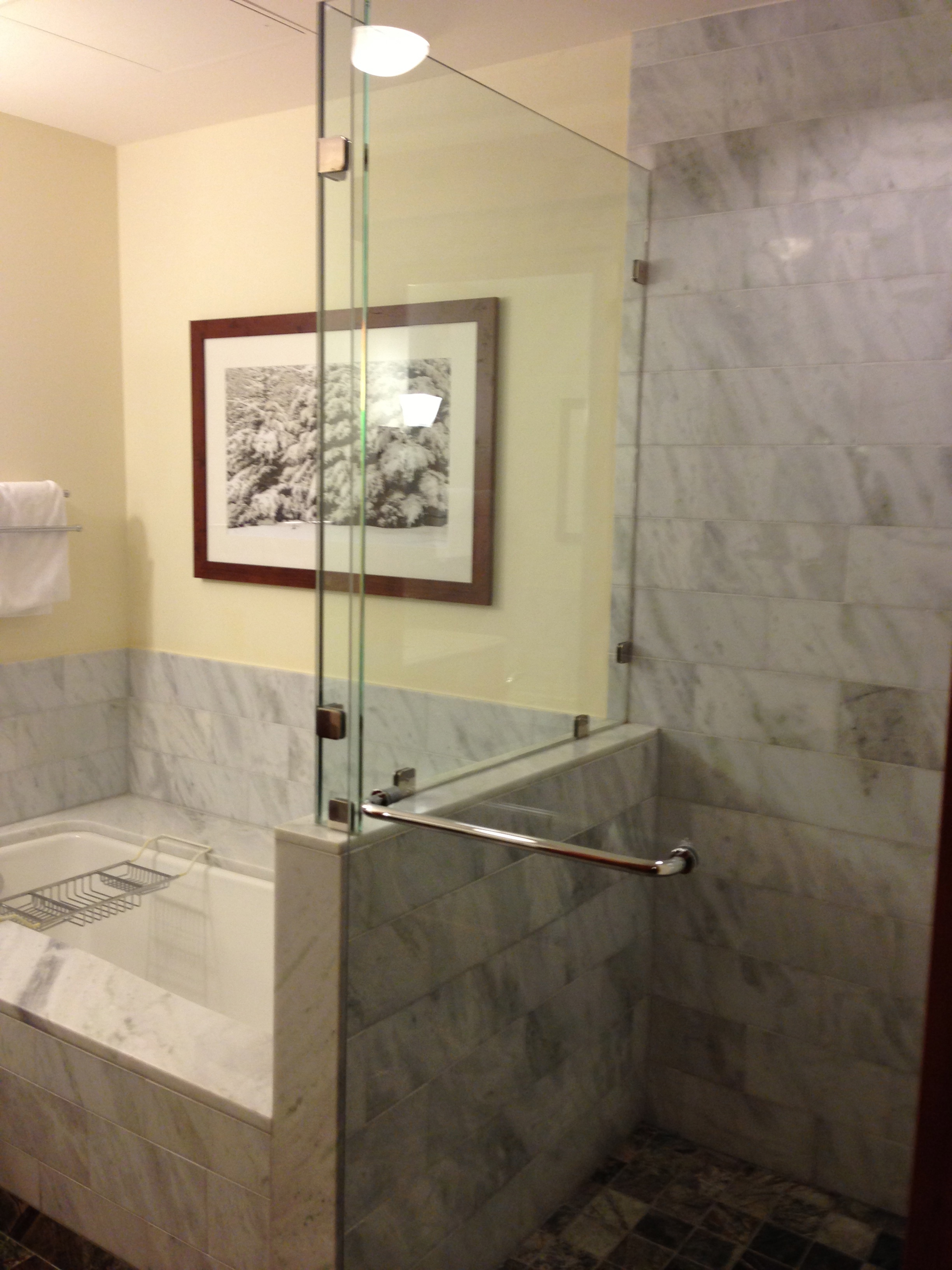 Vermont for non skiers a little bit about a lot of for Standing shower bathroom ideas